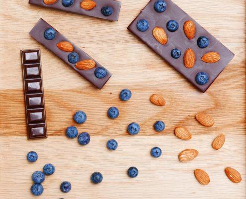 tablettes au bleuets