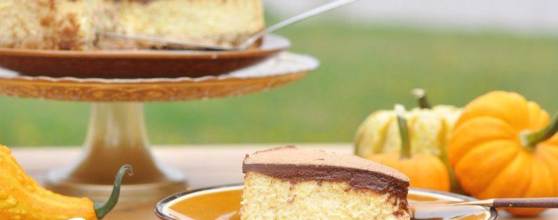cheesecake au chocolat et à la courge butternut