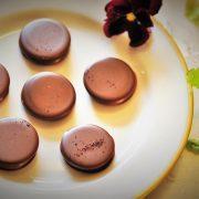 haskap chocolate macaron