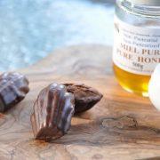 madeleine chocolat et miel