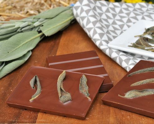 crispy sage chocolate bark