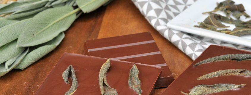 crispy sage chocolate bark