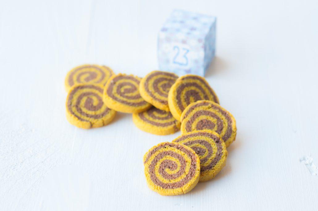 biscuit spirale chocolat curcuma
