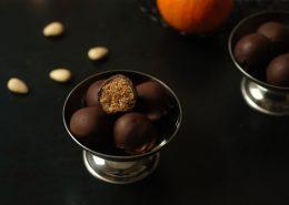 boules d'énergie chocolat dattes amandes