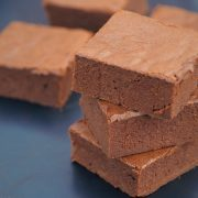 sweet potato brownie pyramid