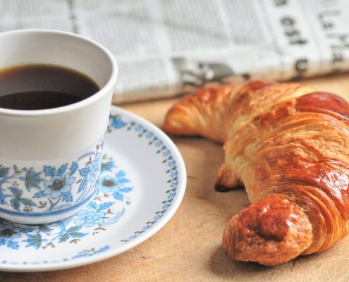 French food, food culture, cafe croissant