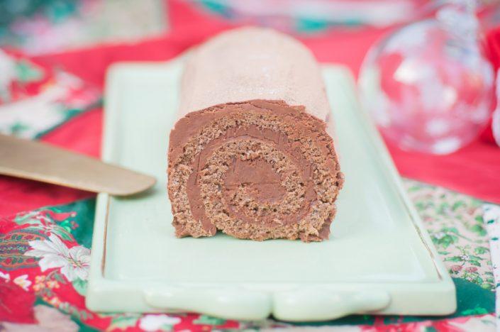Buche de Noel chocolat et fleur de sel