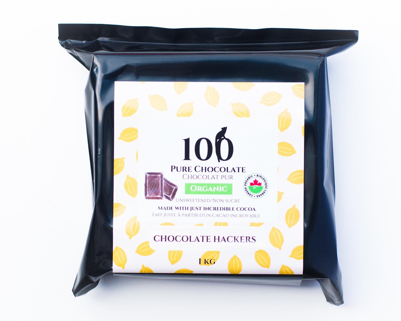 Dark chocolate 100% by Chocolate Hackers, 1KG