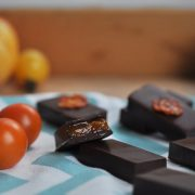 cherry tomato and vanilla chocolates