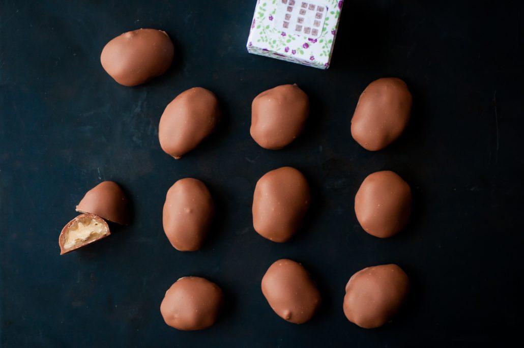 bonbon chocolat noix caramel