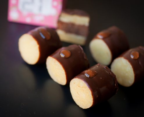 bûche cheesecake chocolat