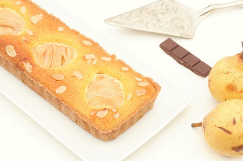 tarte poires amandes chocolat