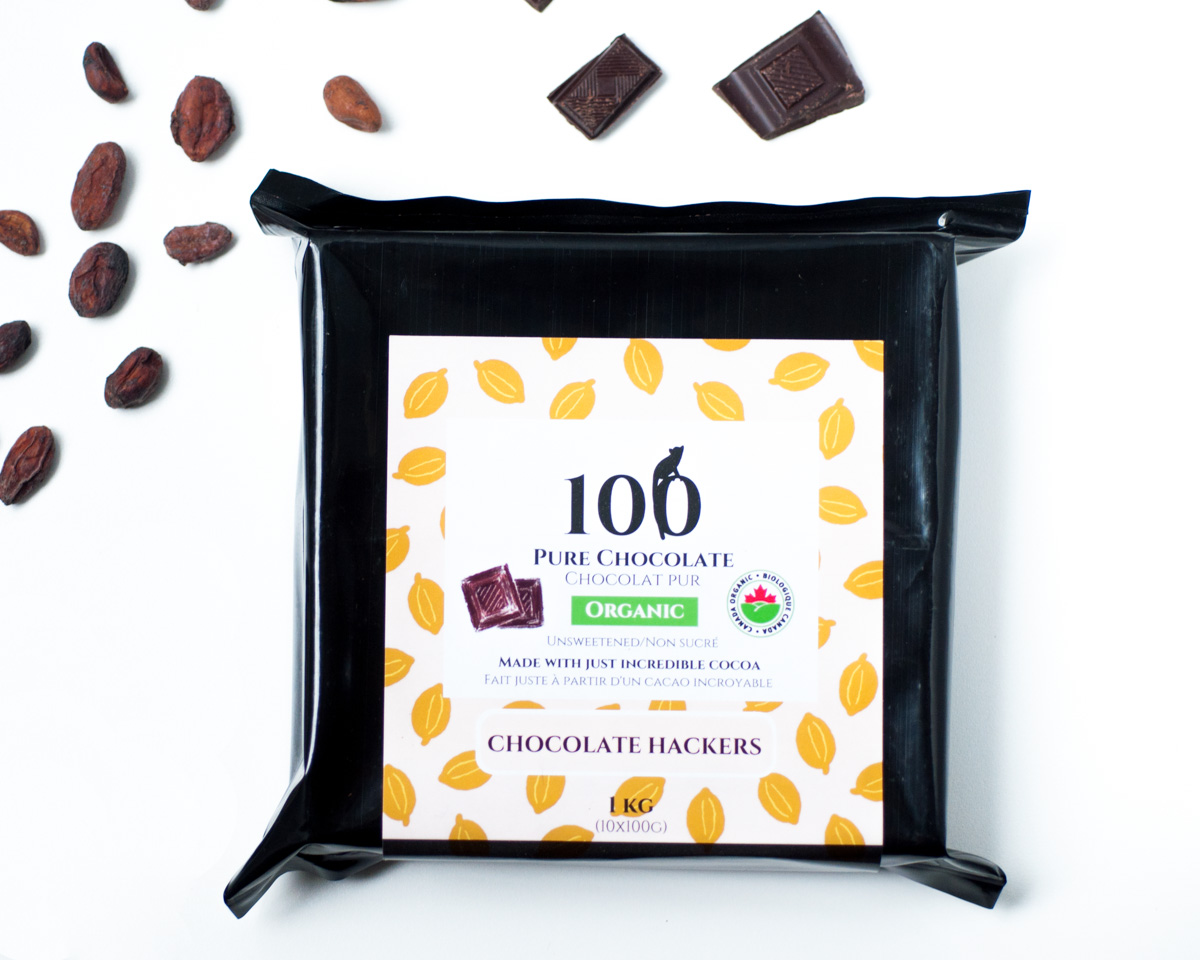 Pure Dark Chocolate 100 Chocolate Hackers